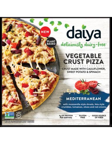 Pizza Veggie Crust Mediterranean  DAIYA-016  Inicio