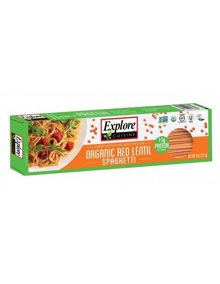 Spaghetti Org Lentejas Rojas