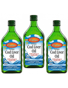3-Pack Cod Liver Oil  PS-010  SUPLEMENTOS NUTRICIONALES PROFESIONALES