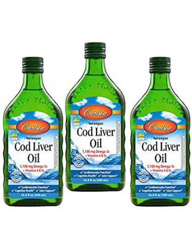 3-Pack Cod Liver Oil  PS-010  SUPLEMENTOS NUTRICIONALES PROFESIONALES