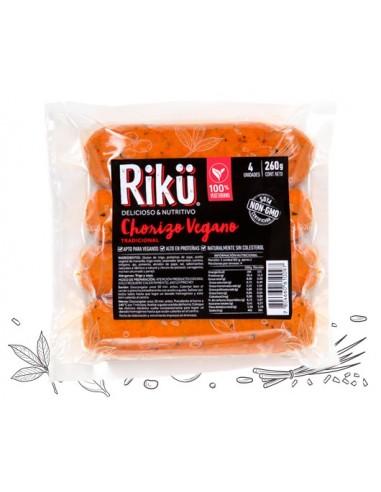 Chorizo Vegano 260 g  RIKU-006  VEGANO