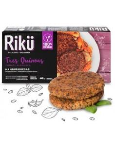 Hamburguesa de Quinoa  RIKU-001  VEGANO PERECIBLES